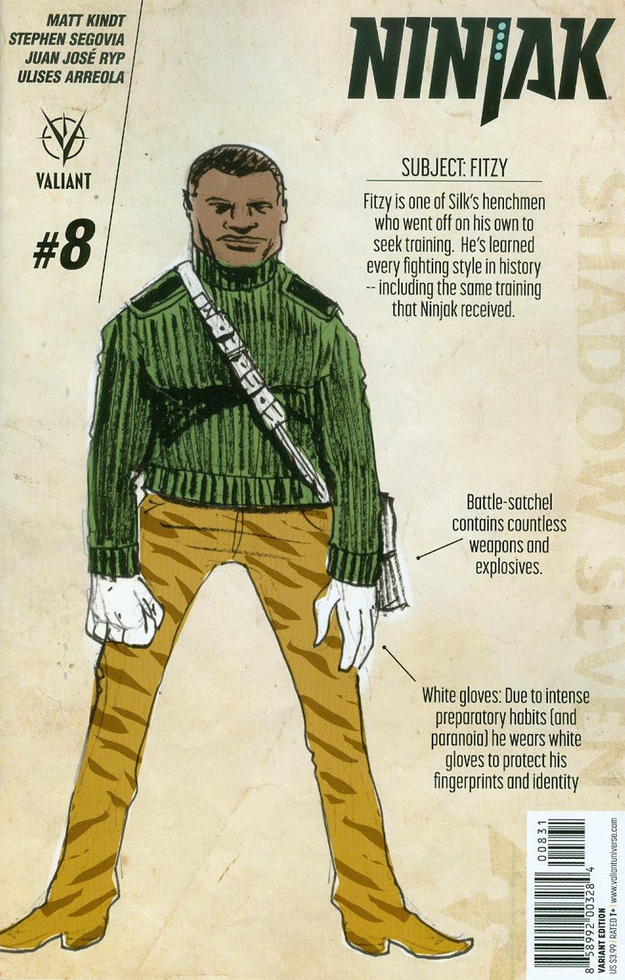 Ninjak Vol 3 #8 Cover C Incentive Matt Kindt Character Design Variant Cover