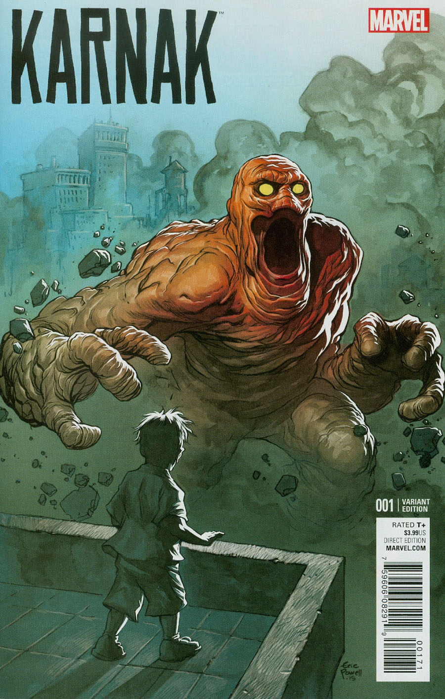 Karnak #1 Cover D Incentive Eric Powell Kirby Monster Variant Cover