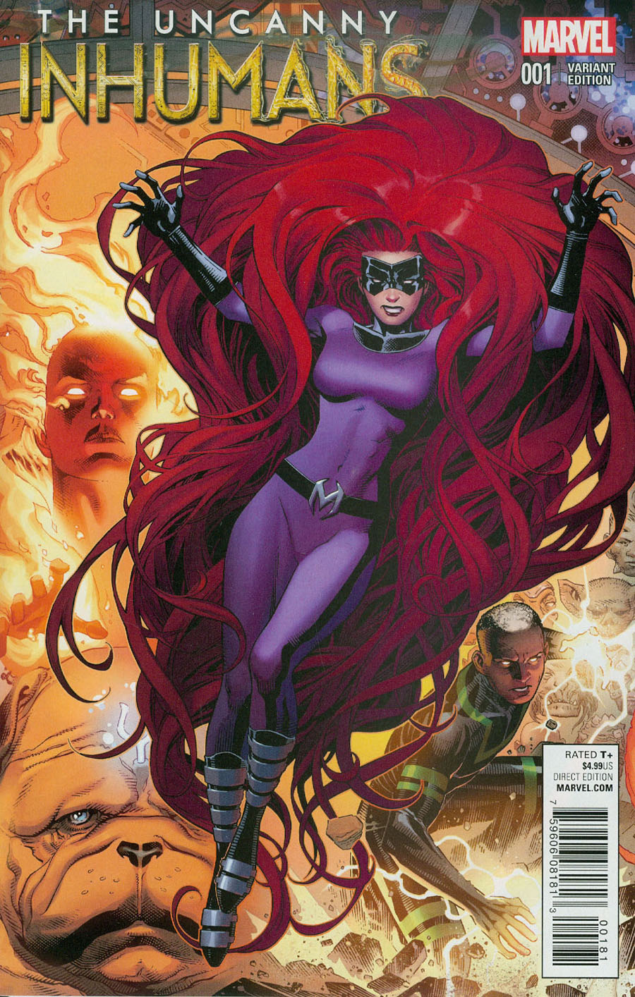 Uncanny Inhumans #1 Cover I Incentive Jim Cheung Connecting B Variant Cover