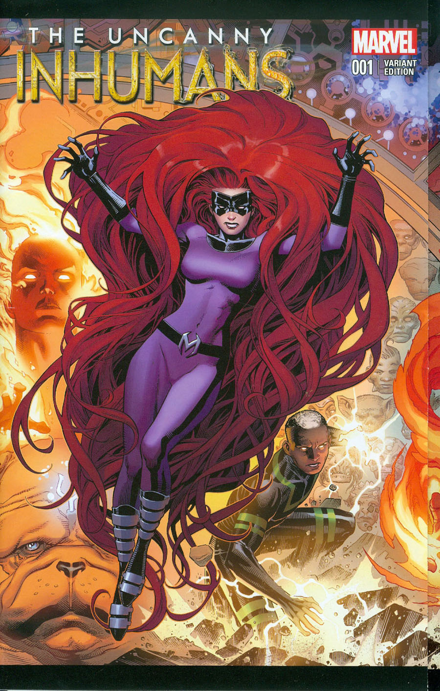 Uncanny Inhumans #1 Cover J Incentive Jim Cheung Gatefold Variant Cover