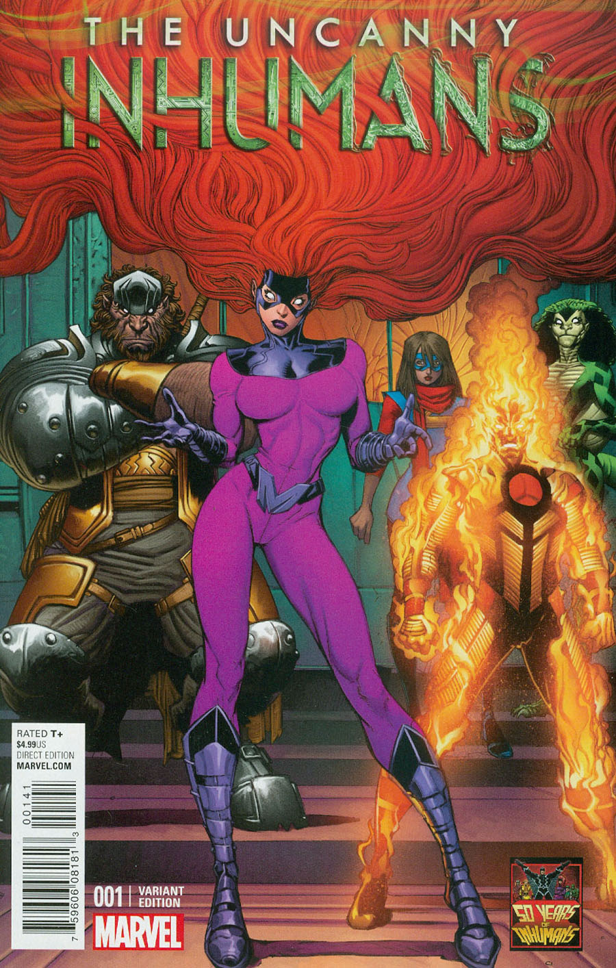 Uncanny Inhumans #1 Cover K Incentive Arthur Adams Inhumans 50th Anniversary Variant Cover