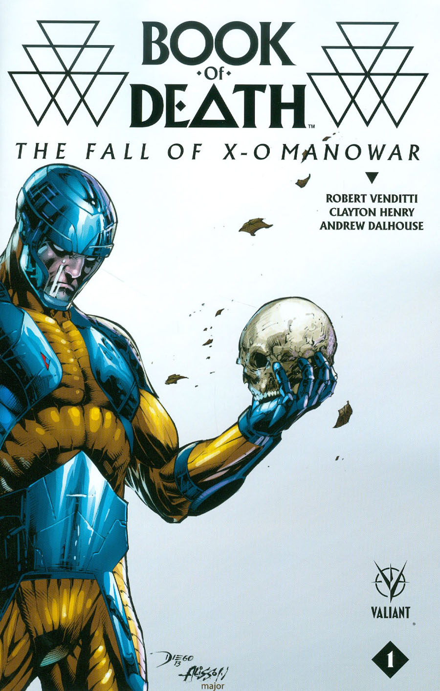 Book Of Death Fall Of X-O Manowar #1 Cover D Incentive Diego Bernard Variant Cover
