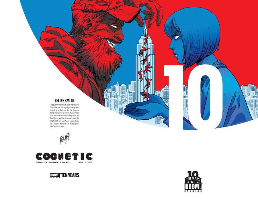 Cognetic #1 Cover B Incentive Brian Stelfreeze BOOM 10 Years Anniversary Virgin Variant Cover