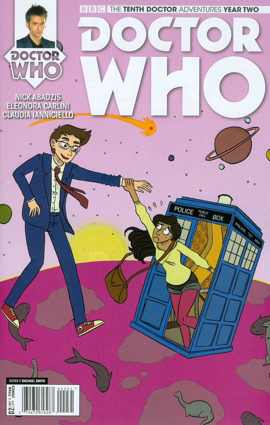 Doctor Who 10th Doctor Year Two #2 Cover C Incentive Rachael Smith Variant Cover