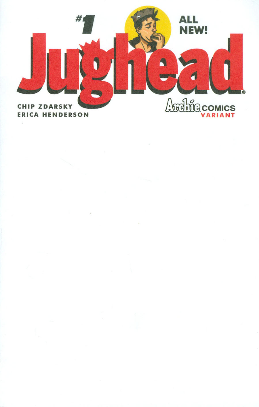 Jughead Vol 3 #1 Cover G Variant Blank Cover