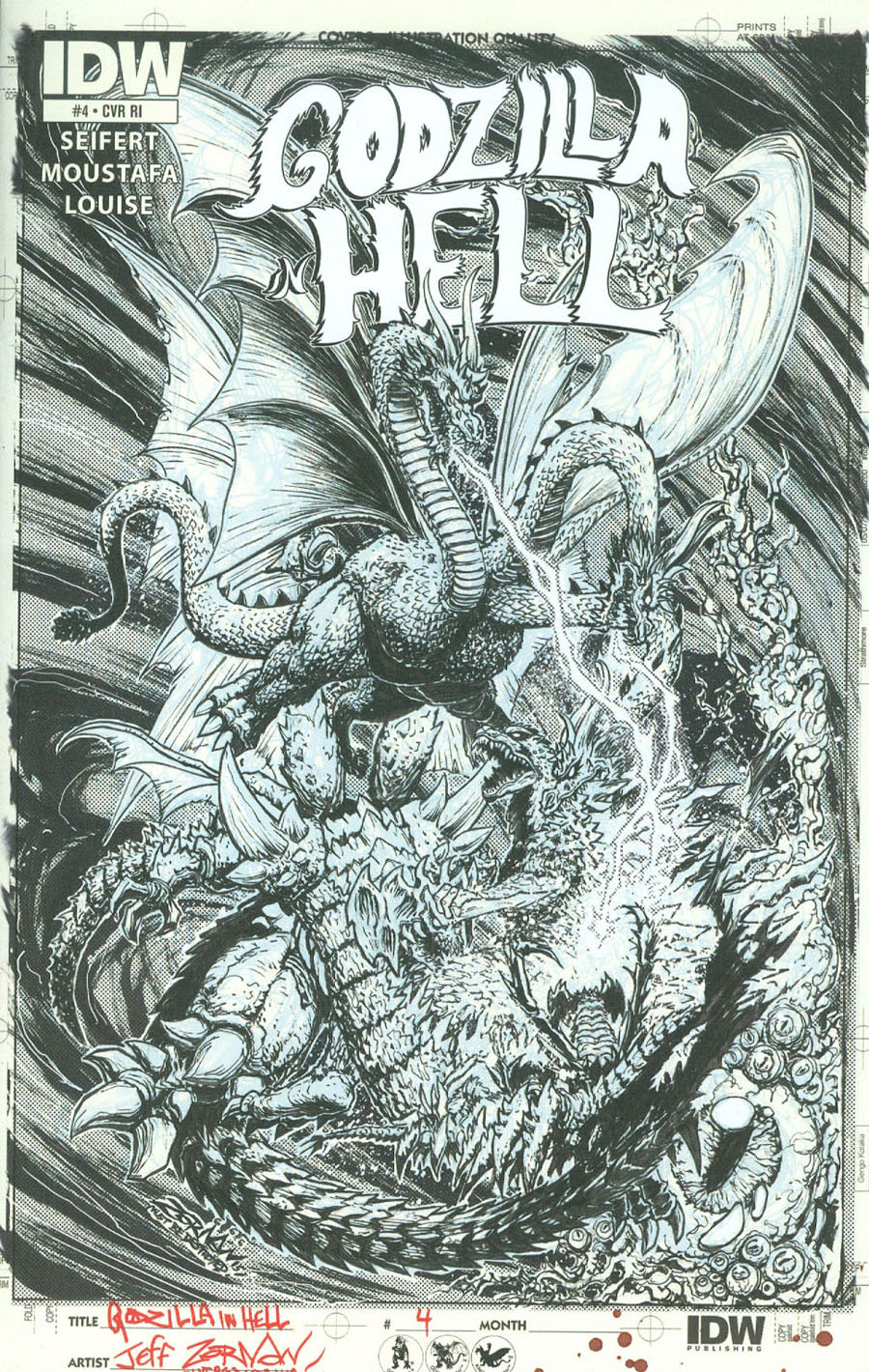 Godzilla In Hell #4 Cover C Incentive Jeff Zornow Artists Edition Variant Cover