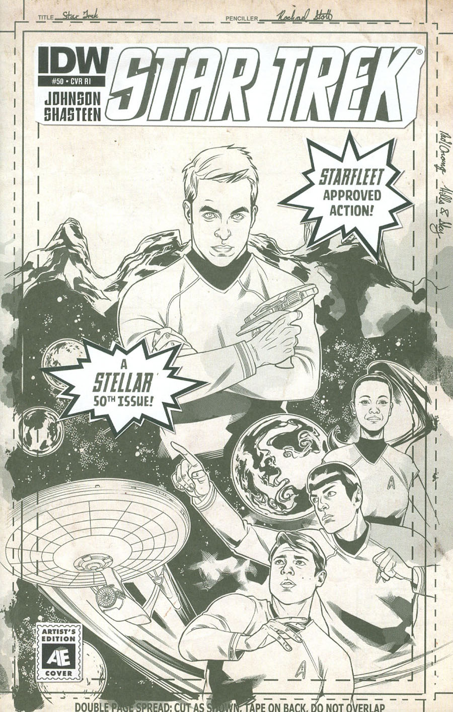 Star Trek (IDW) #50 Cover D Incentive Rachael Stott Artists Edition Variant Cover
