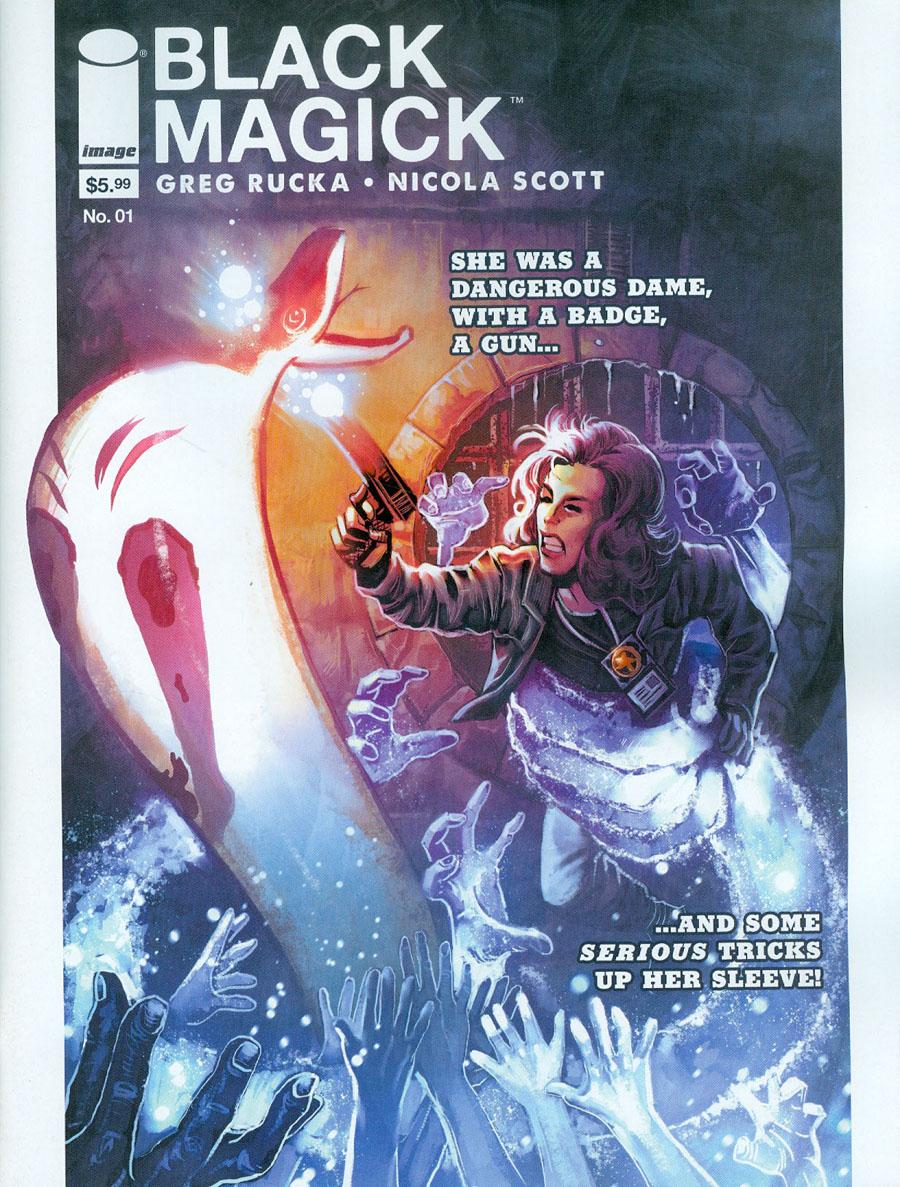 Black Magick #1 Cover C Variant Rick Burchett Magazine-Sized Cover