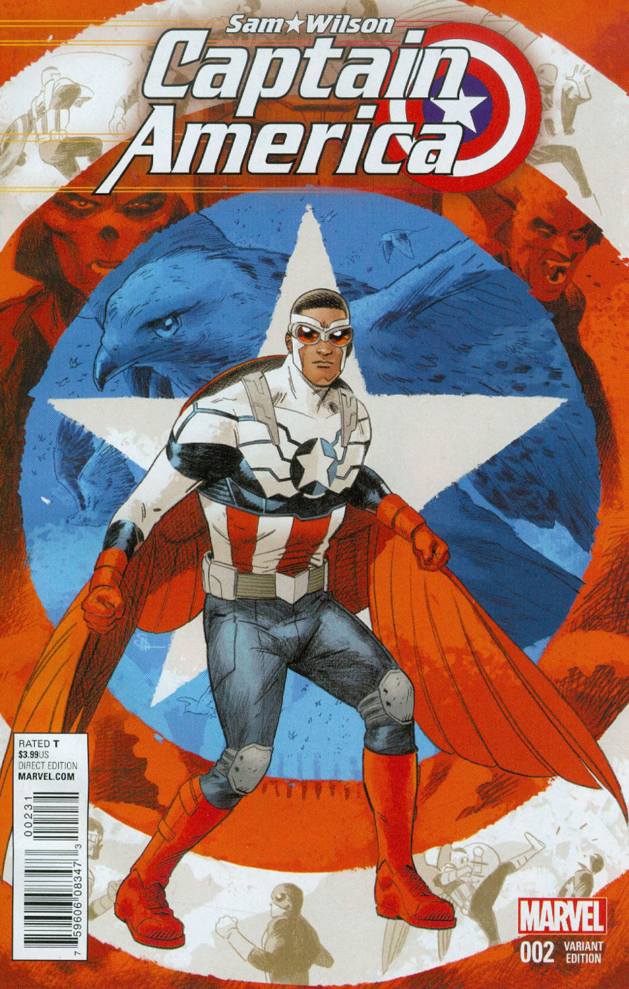 Captain America Sam Wilson #2 Cover C Incentive Evan Doc Shaner Variant Cover