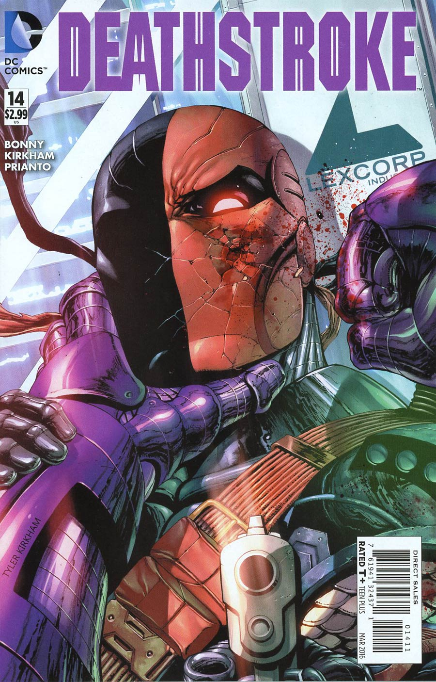 Deathstroke Vol 3 #14 Cover A Regular Tyler Kirkham Cover