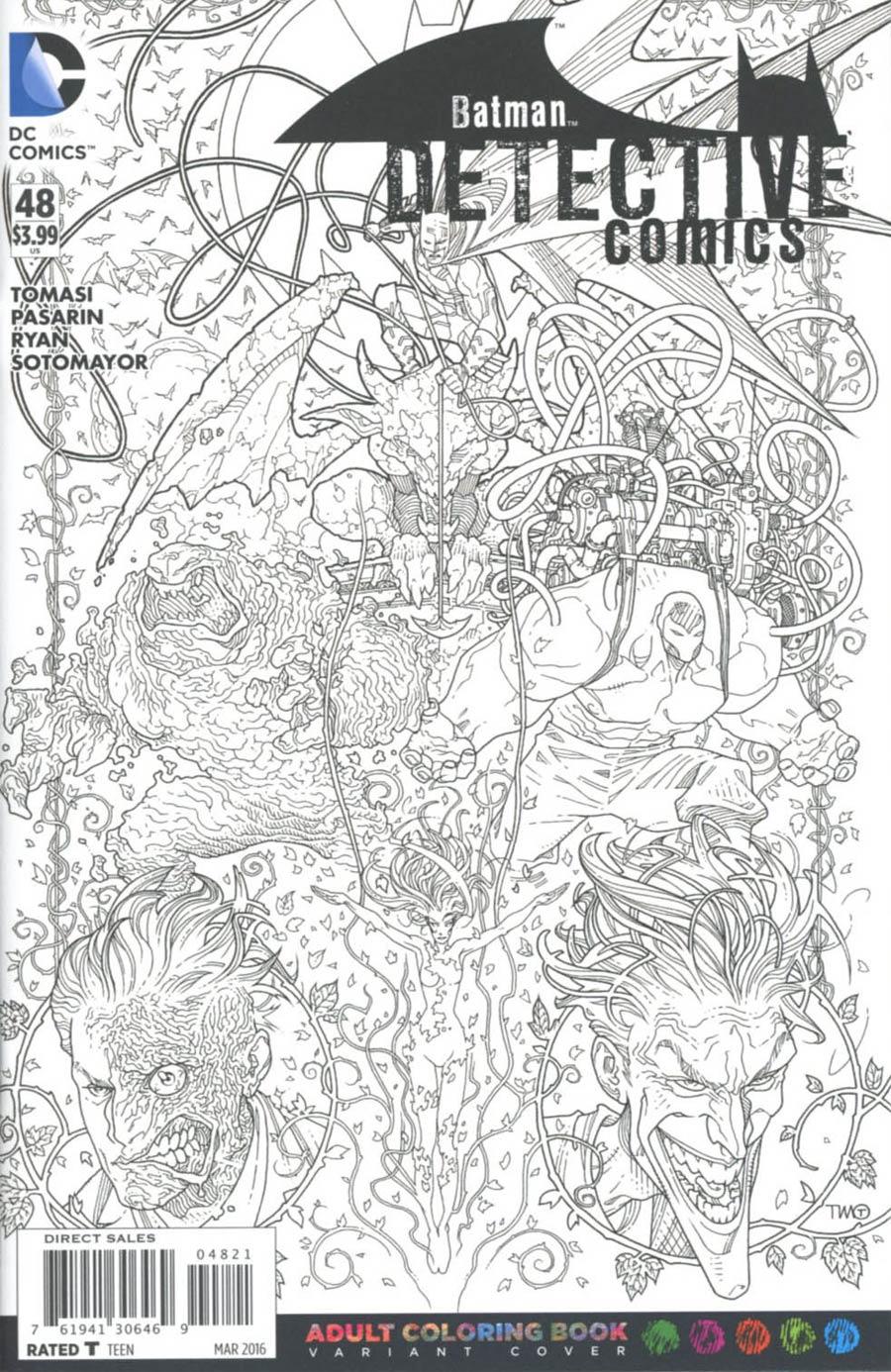 Detective Comics Vol 2 #48 Cover B Variant Timothy Green II Adult Coloring Book Cover