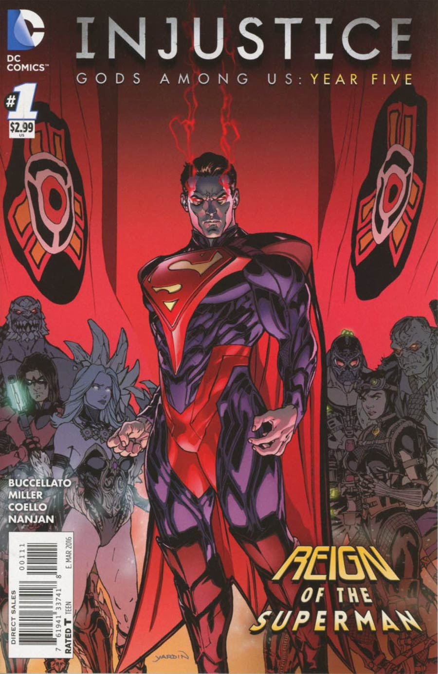 Injustice Gods Among Us Year Five #1 Cover A Regular David Yardin Cover