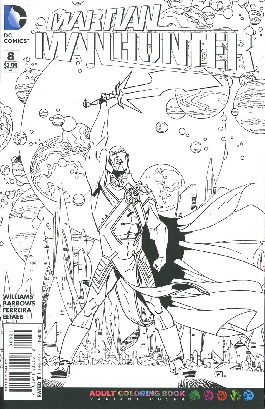 Martian Manhunter Vol 4 #8 Cover B Variant Andy Kuhn Adult Coloring Book Cover