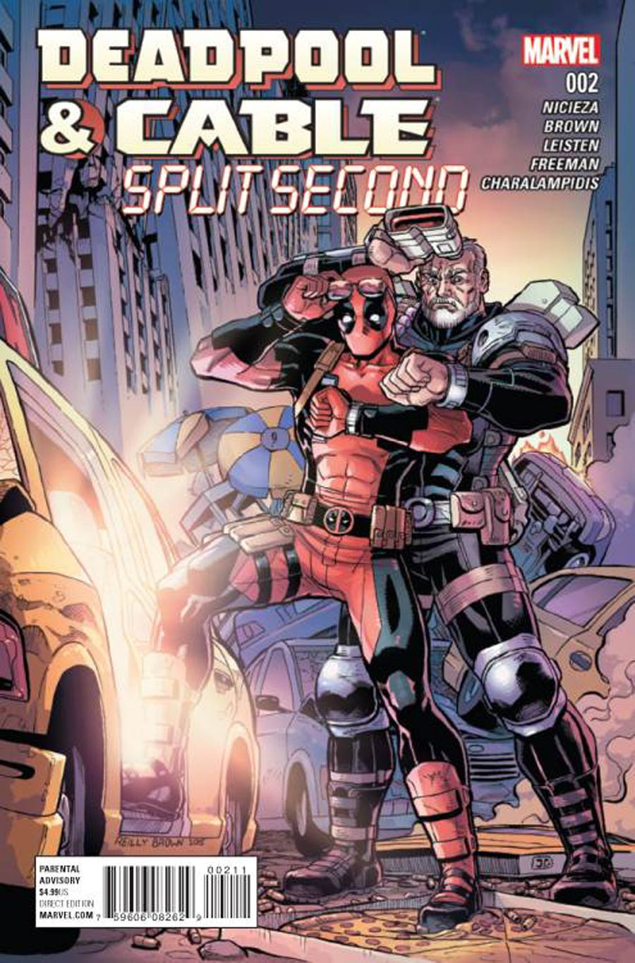 Deadpool And Cable Split Second #2