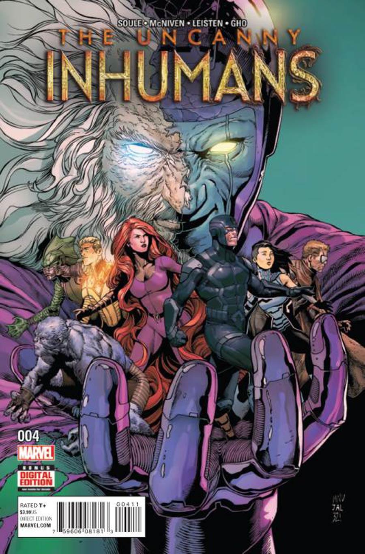 Uncanny Inhumans #4 Cover A 1st Ptg Regular Steve McNiven Cover