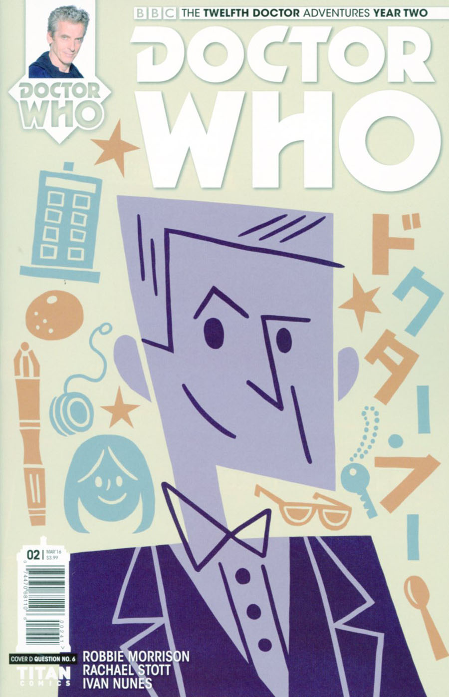 Doctor Who 12th Doctor Year Two #2 Cover C Variant Question No 6 Cover