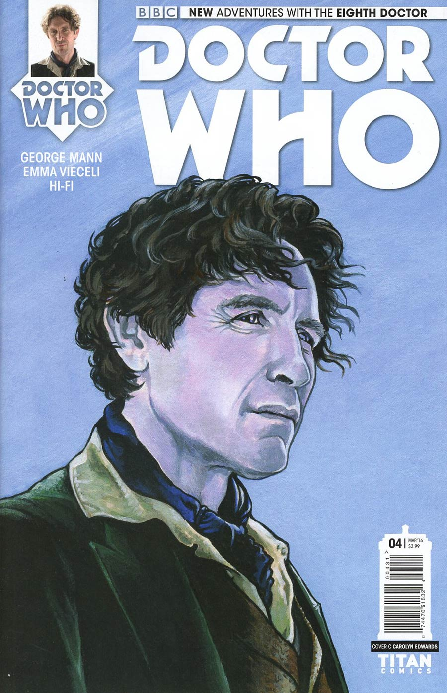 Doctor Who 8th Doctor #4 Cover C Variant Carolyn Edwards Cover