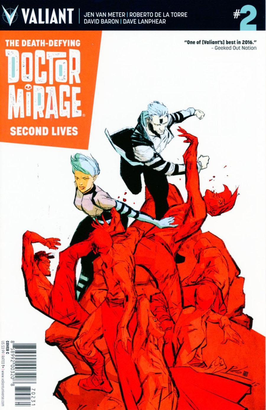 Death-Defying Doctor Mirage Second Lives #2 Cover C Variant Roberto De La Torre Cover