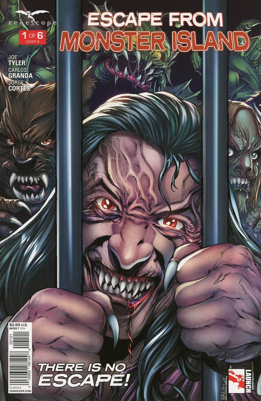 Grimm Fairy Tales Presents Escape From Monster Island #1 Cover B Marat Mychaels
