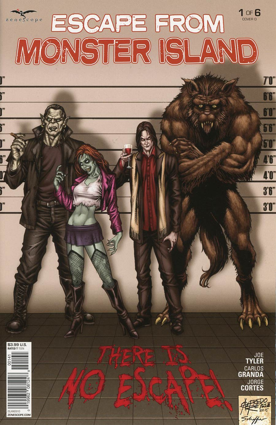 Grimm Fairy Tales Presents Escape From Monster Island #1 Cover D Alfredo Reyes