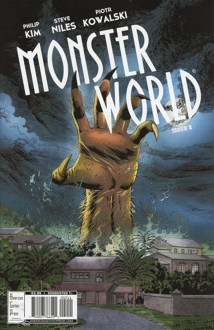 Famous Monsters Presents Monster World #2 Cover A Regular Piotr Kowalski Cover