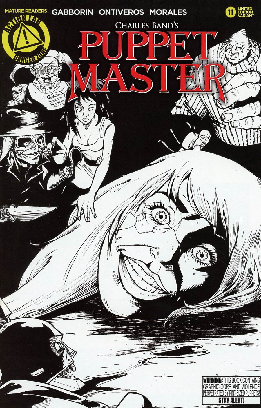 Puppet Master #11 Cover B Variant Antonio Ontiveros Sketch Cover
