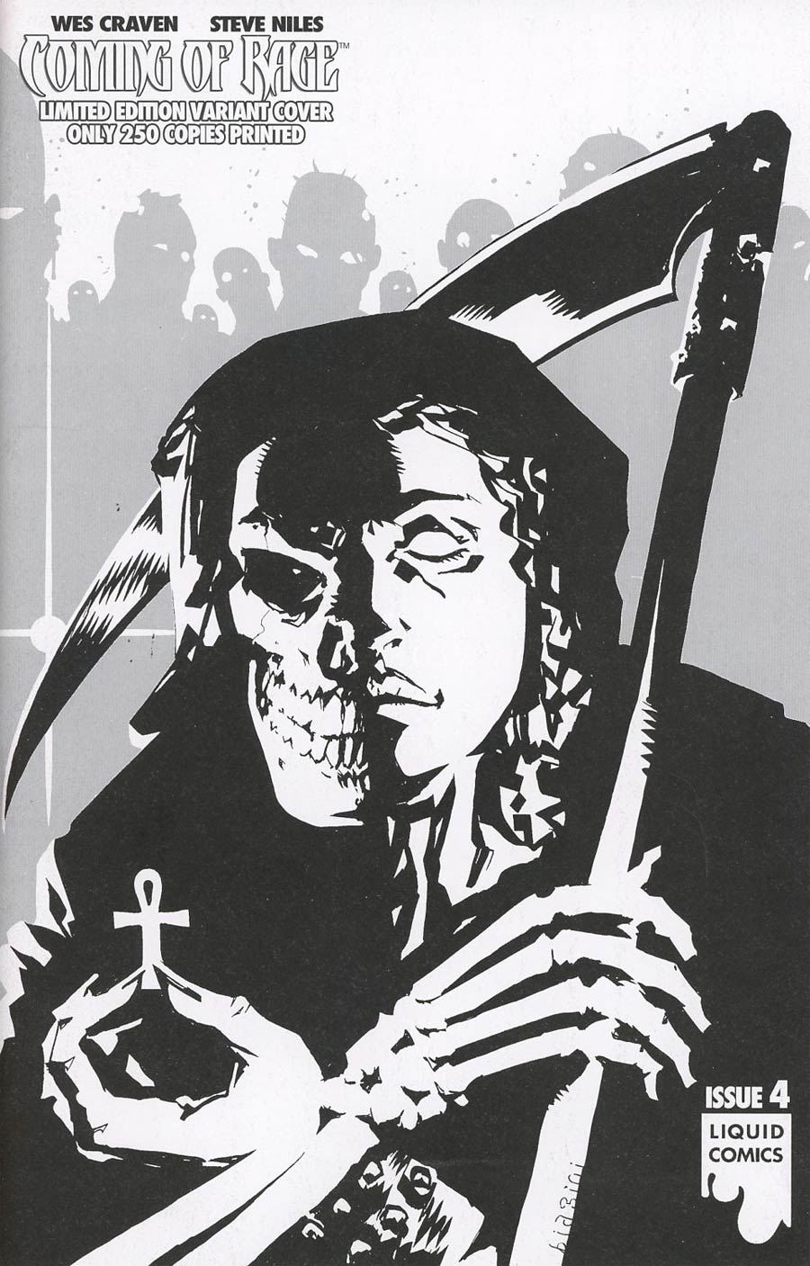 Wes Cravens Coming Of Rage #4 Cover D Variant Francesco Biagini Ultra-Rare Black & White B Cover
