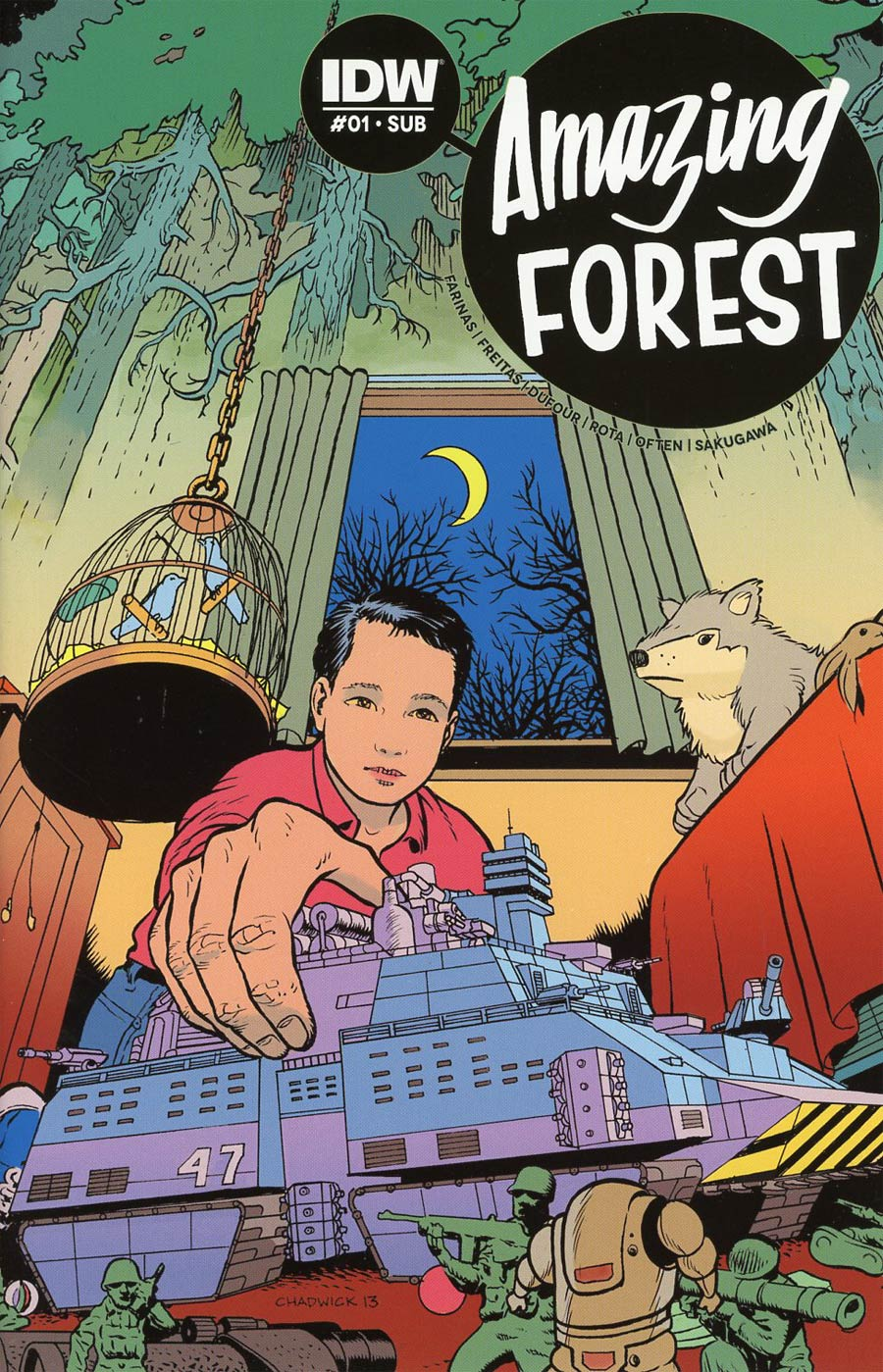 Amazing Forest #1 Cover B Variant Paul Chadwick Subscription Cover