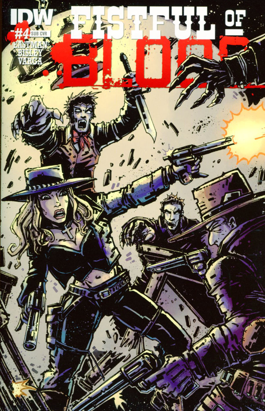 Fistful Of Blood #4 Cover B Variant Kevin Eastman  Subscription Cover