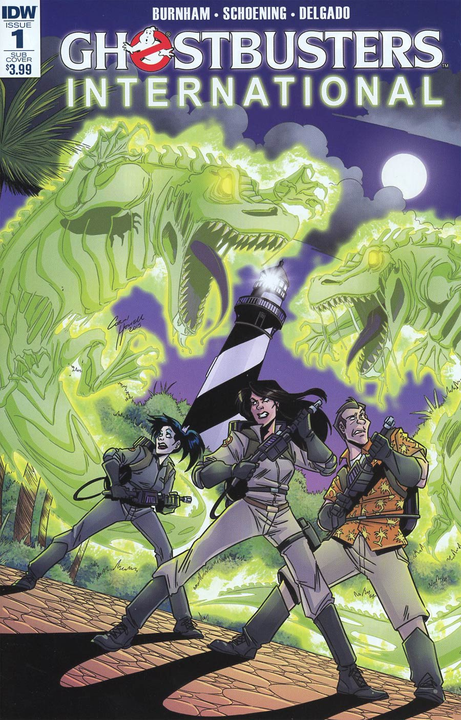 Ghostbusters International #1 Cover B Variant Corin Howell Subscription Cover