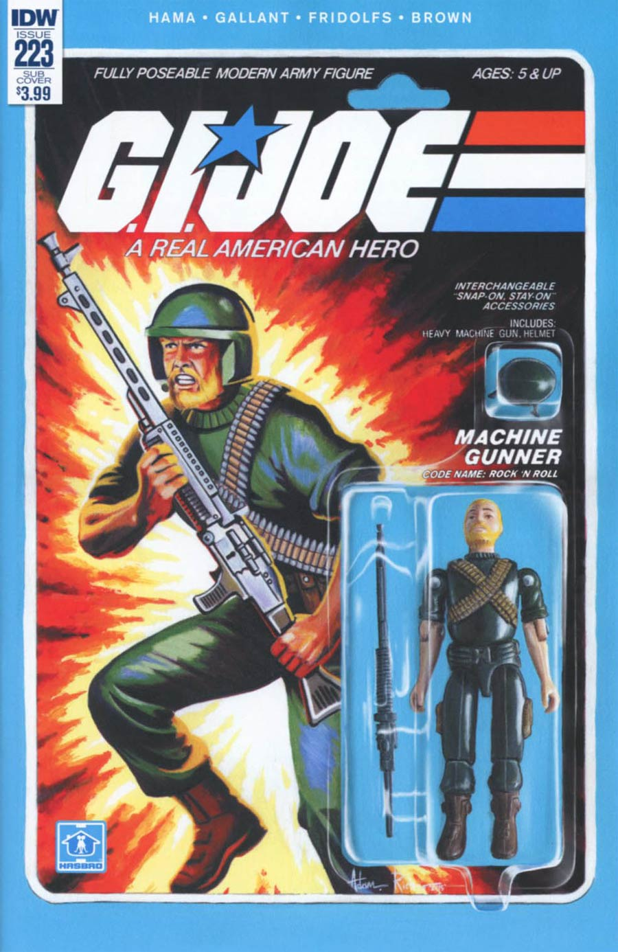 GI Joe A Real American Hero #223 Cover B Variant Adam Riches Subscription Cover