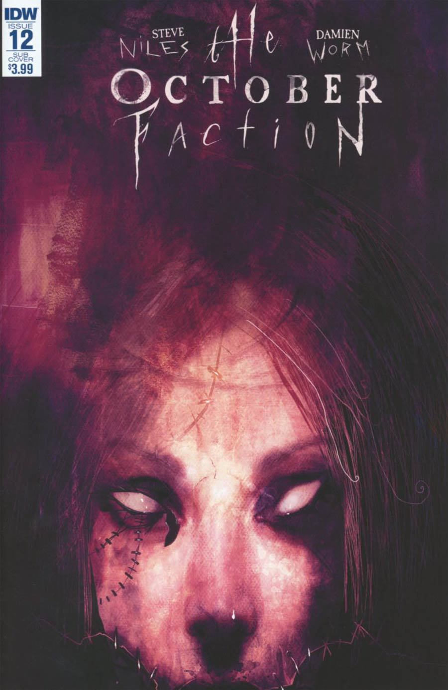 October Faction #12 Cover B Variant Damien Worm Subscription Cover
