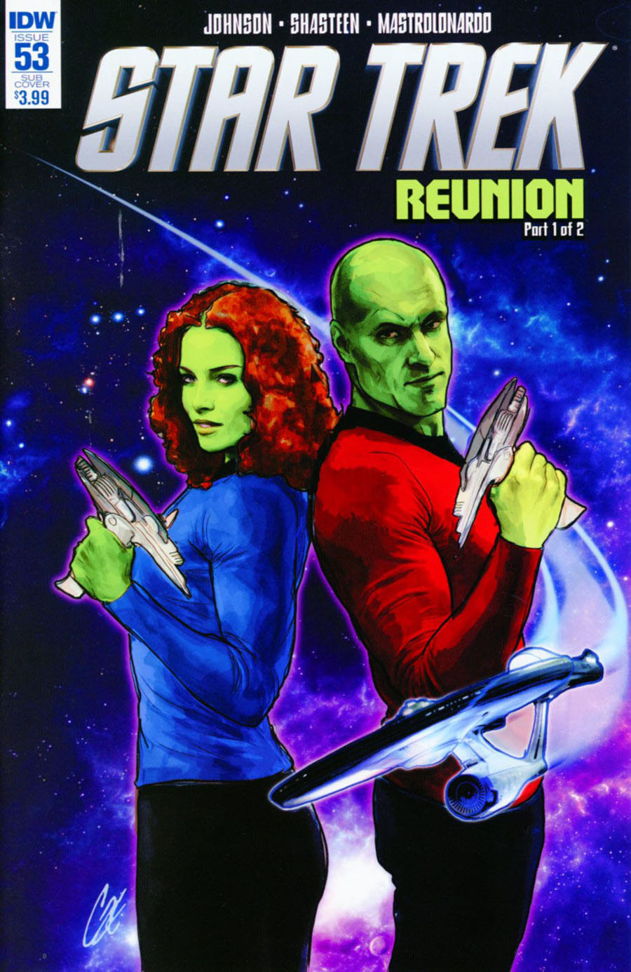 Star Trek (IDW) #53 Cover B Variant Cat Staggs Subscription Cover