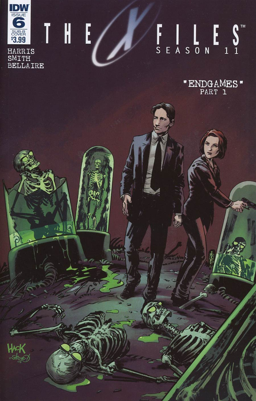 X-Files Season 11 #6 Cover C Variant Robert Hack Subscription Cover