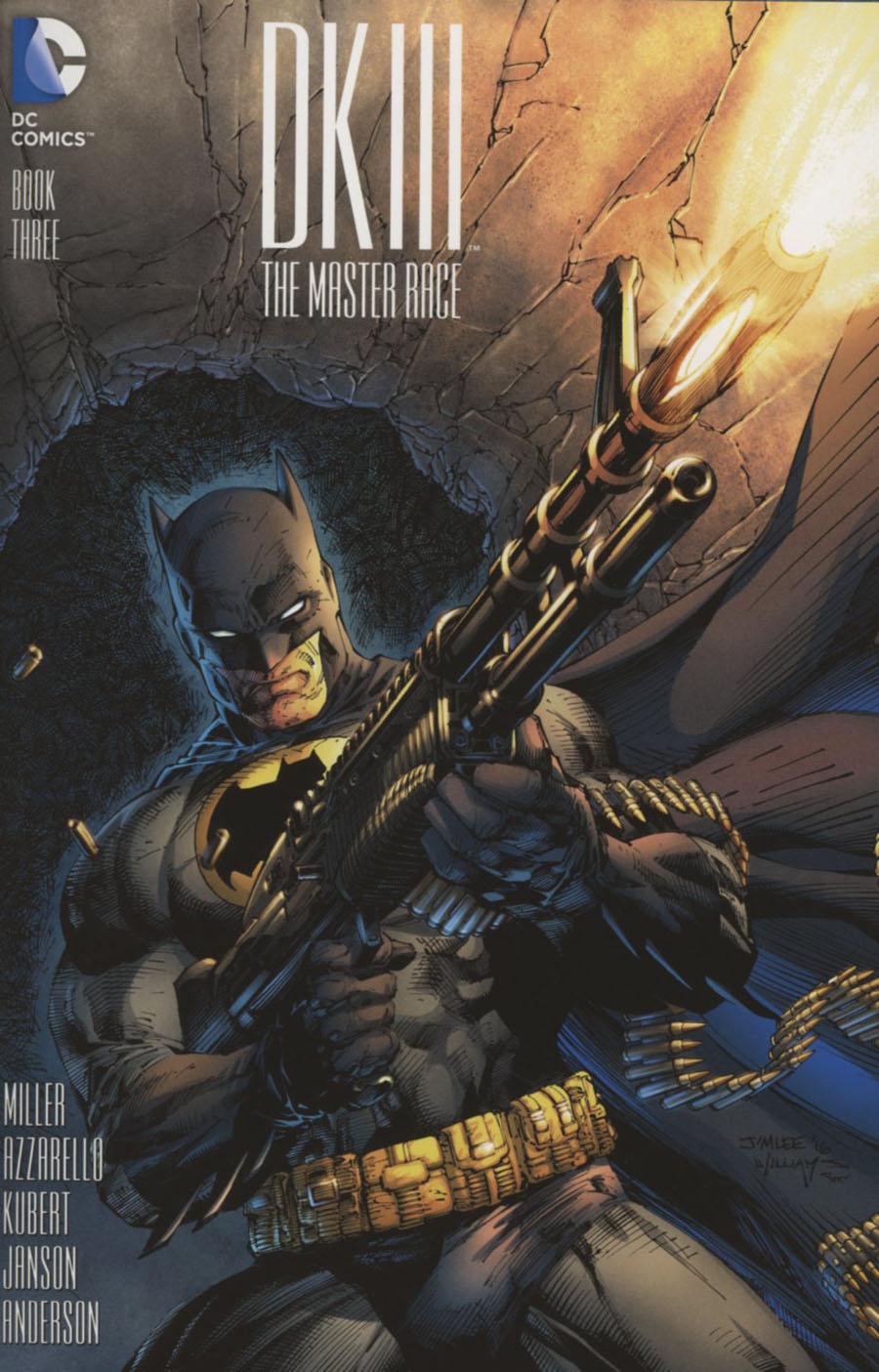 Dark Knight III The Master Race #3 Cover J Incentive Jim Lee Variant Cover