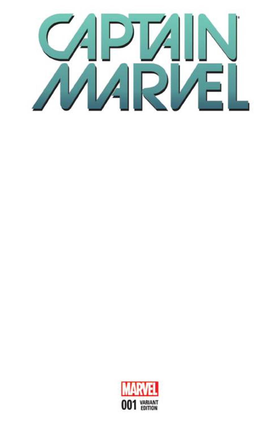 Captain Marvel Vol 8 #1 Cover C Variant Blank Cover