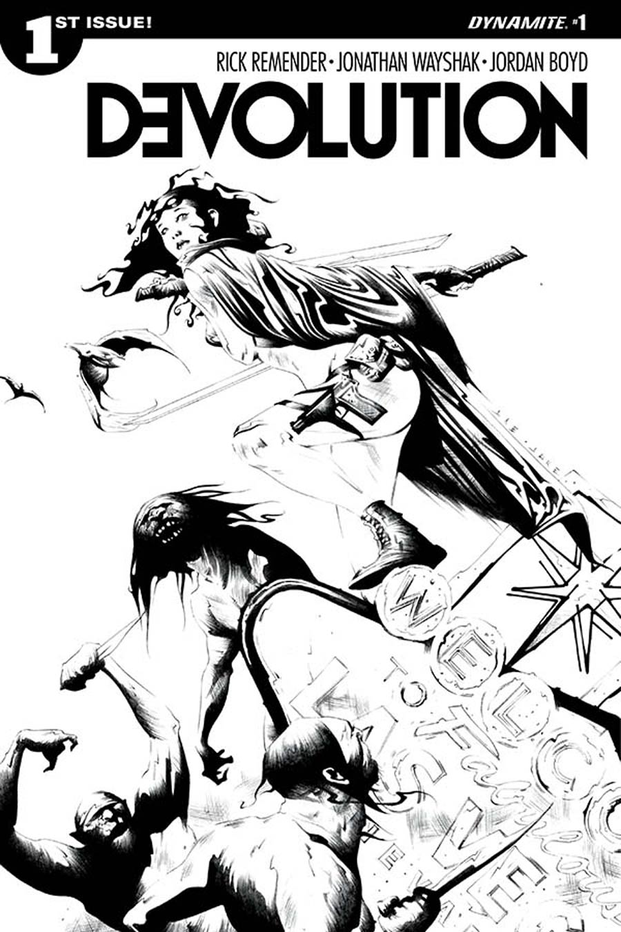 Devolution #1 Cover B Incentive Jae Lee Black & White Cover