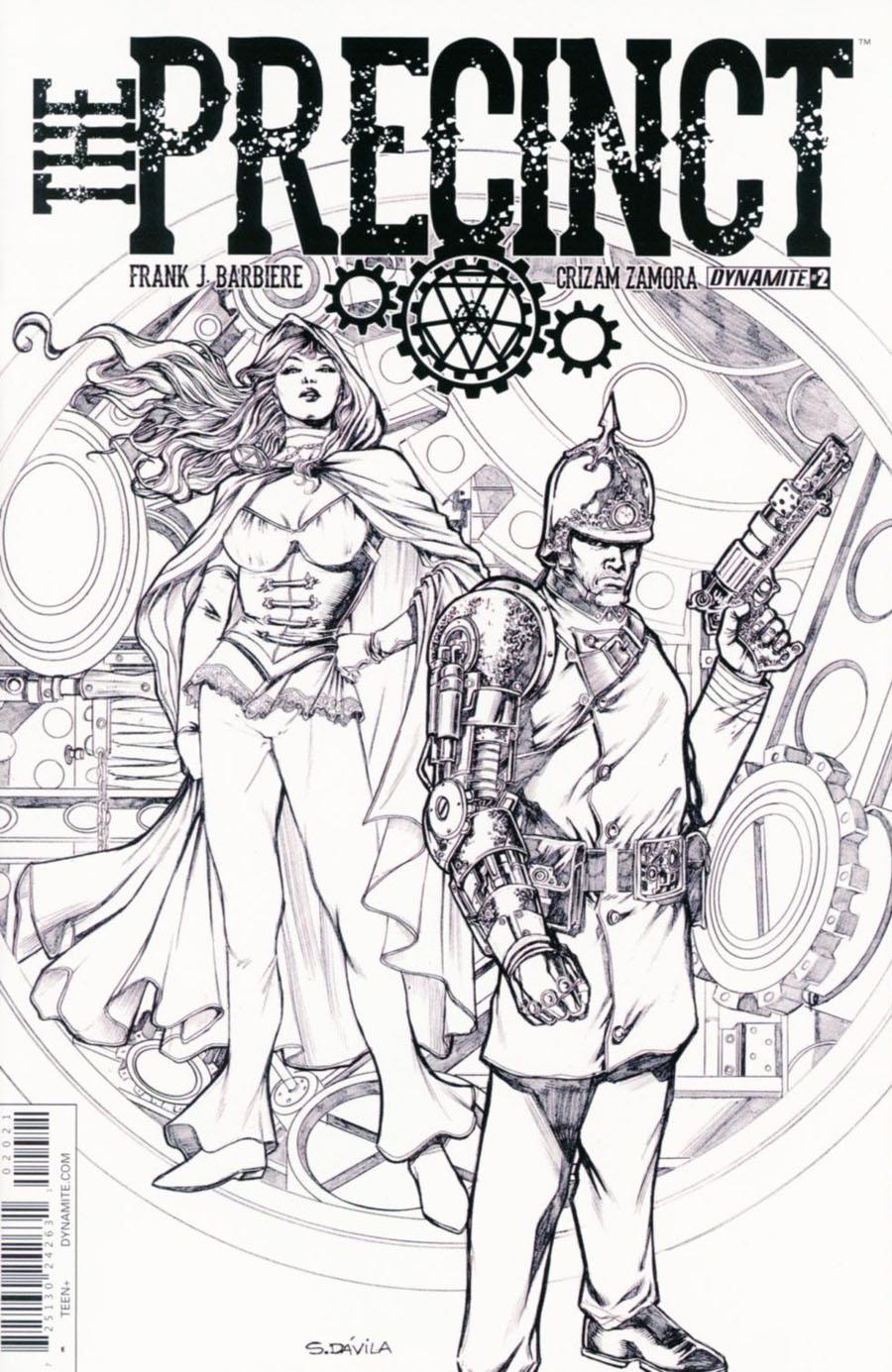 Precinct #2 Cover B Incentive Sergio Fernandez Davila Black & White Cover