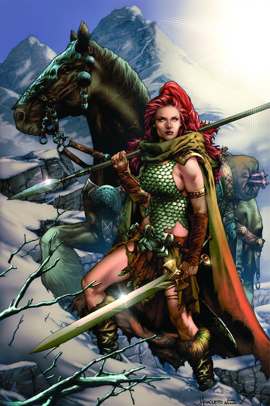 Red Sonja Vol 6 #1 Cover K Rare Jay Anacleto Virgin Connecting Cover