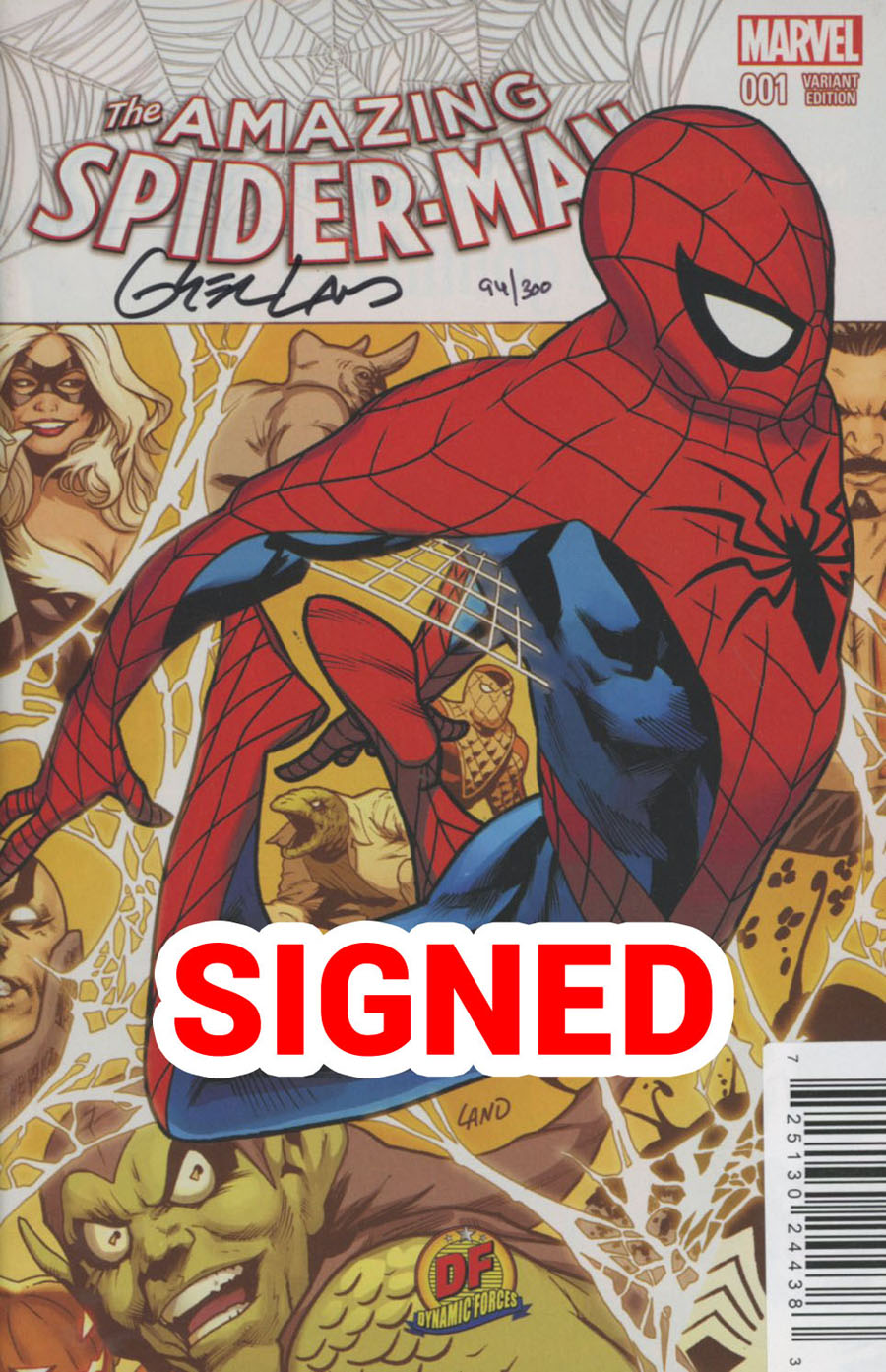 Amazing Spider-Man Vol 4 #1 Cover S DF Exclusive Greg Land Variant Cover Signed By Greg Land