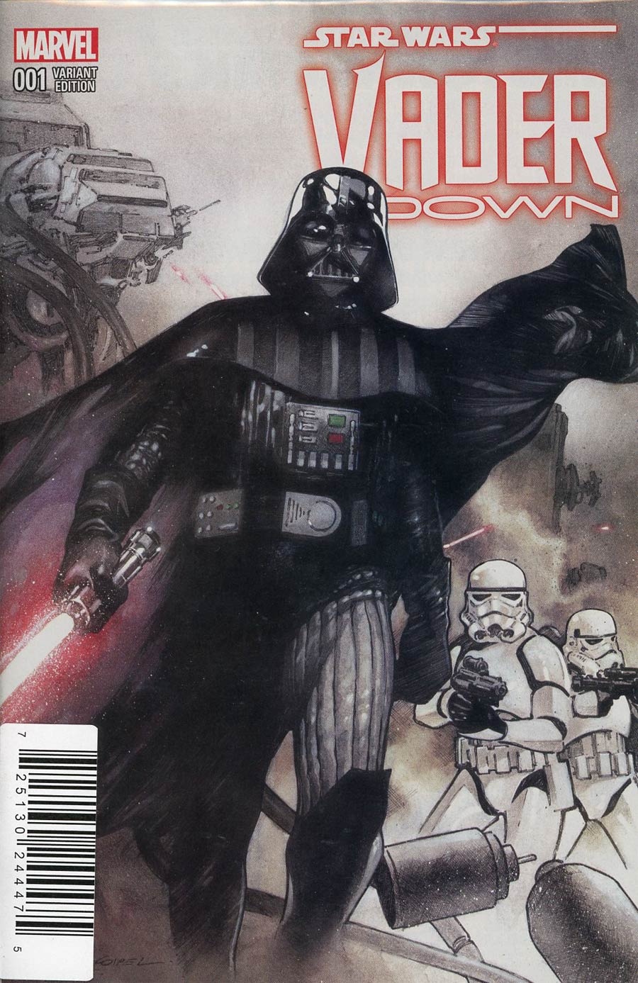 Star Wars Vader Down #1 Cover H DF Exclusive Olivier Coipel Variant Cover Plus 1