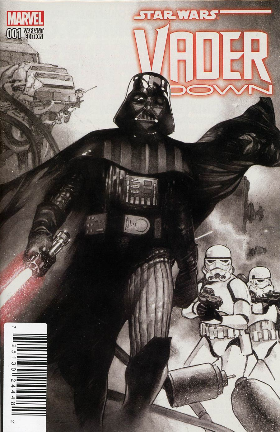 Star Wars Vader Down #1 Cover I DF Exclusive Olivier Coipel Black & White Line Art Variant Cover