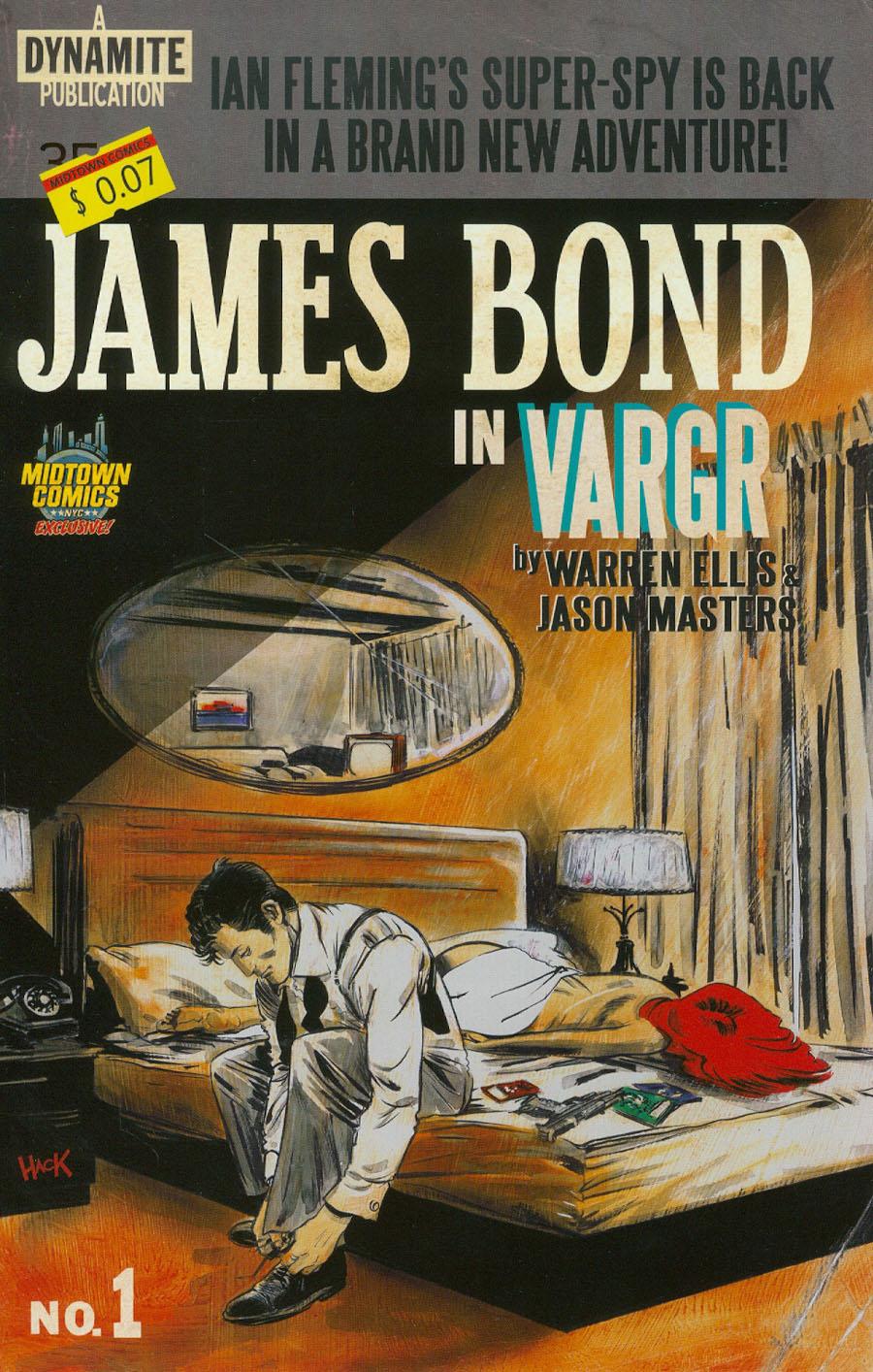 James Bond #1 Cover I Midtown Exclusive Robert Hack Retro Novel Variant Cover