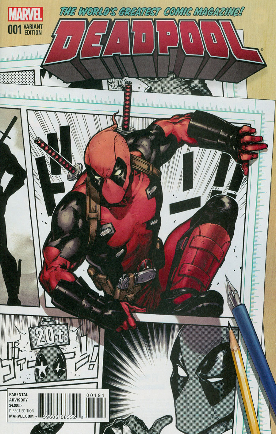 Deadpool Vol 5 #1 Cover F Incentive Kamome Shirahama Variant Cover