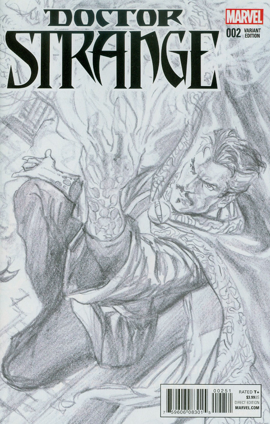 Doctor Strange Vol 4 #2 Cover D Incentive Alex Ross Sketch Variant Cover