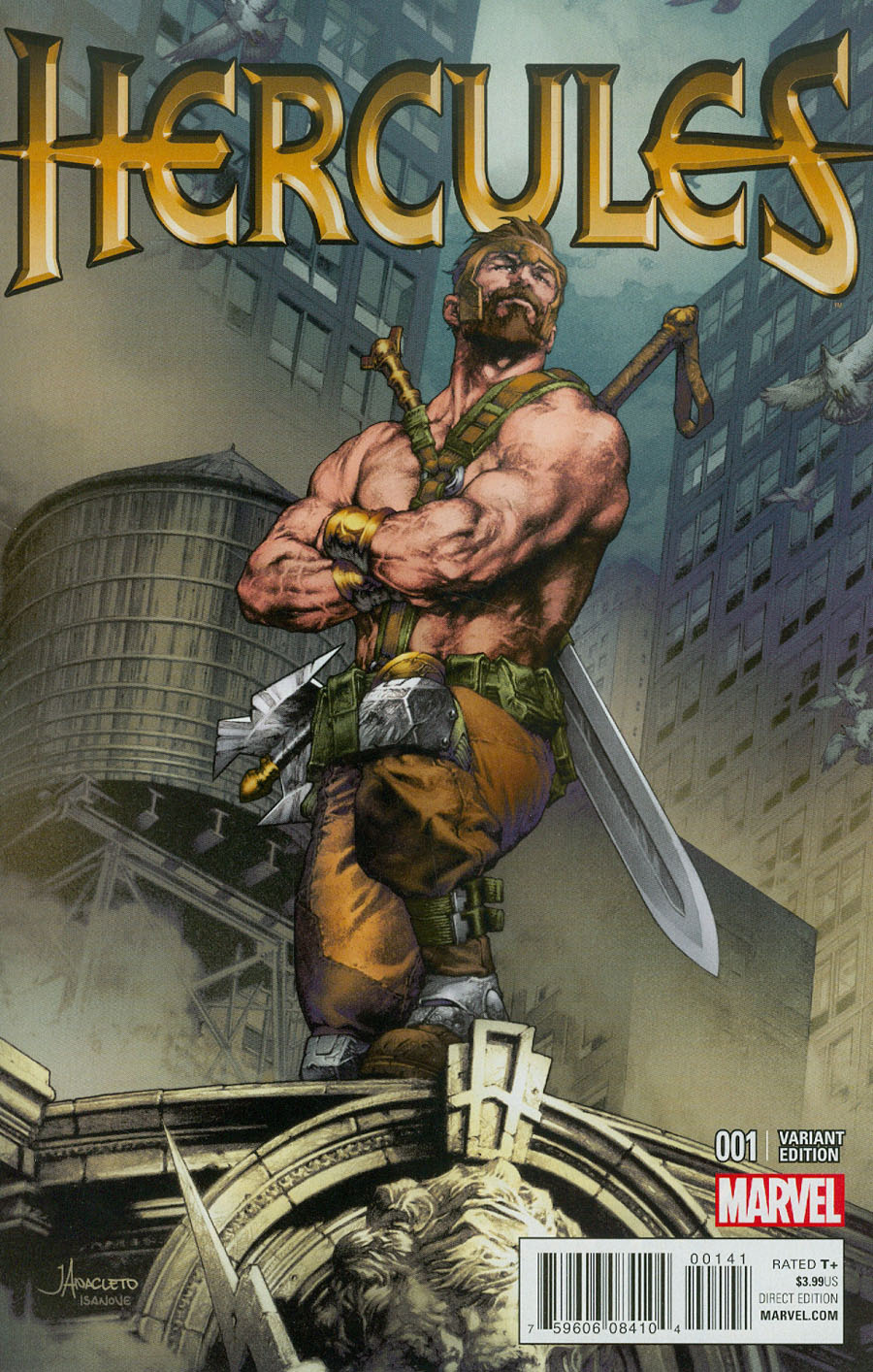 Hercules Vol 4 #1 Cover E Incentive Jay Anacleto Variant Cover