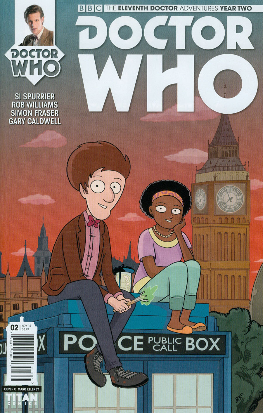 Doctor Who 11th Doctor Year Two #2 Cover C Incentive Marc Ellerby Variant Cover