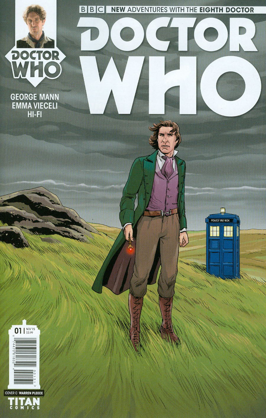 Doctor Who 8th Doctor #1 Cover D Incentive Emma Vieceli Variant Cover