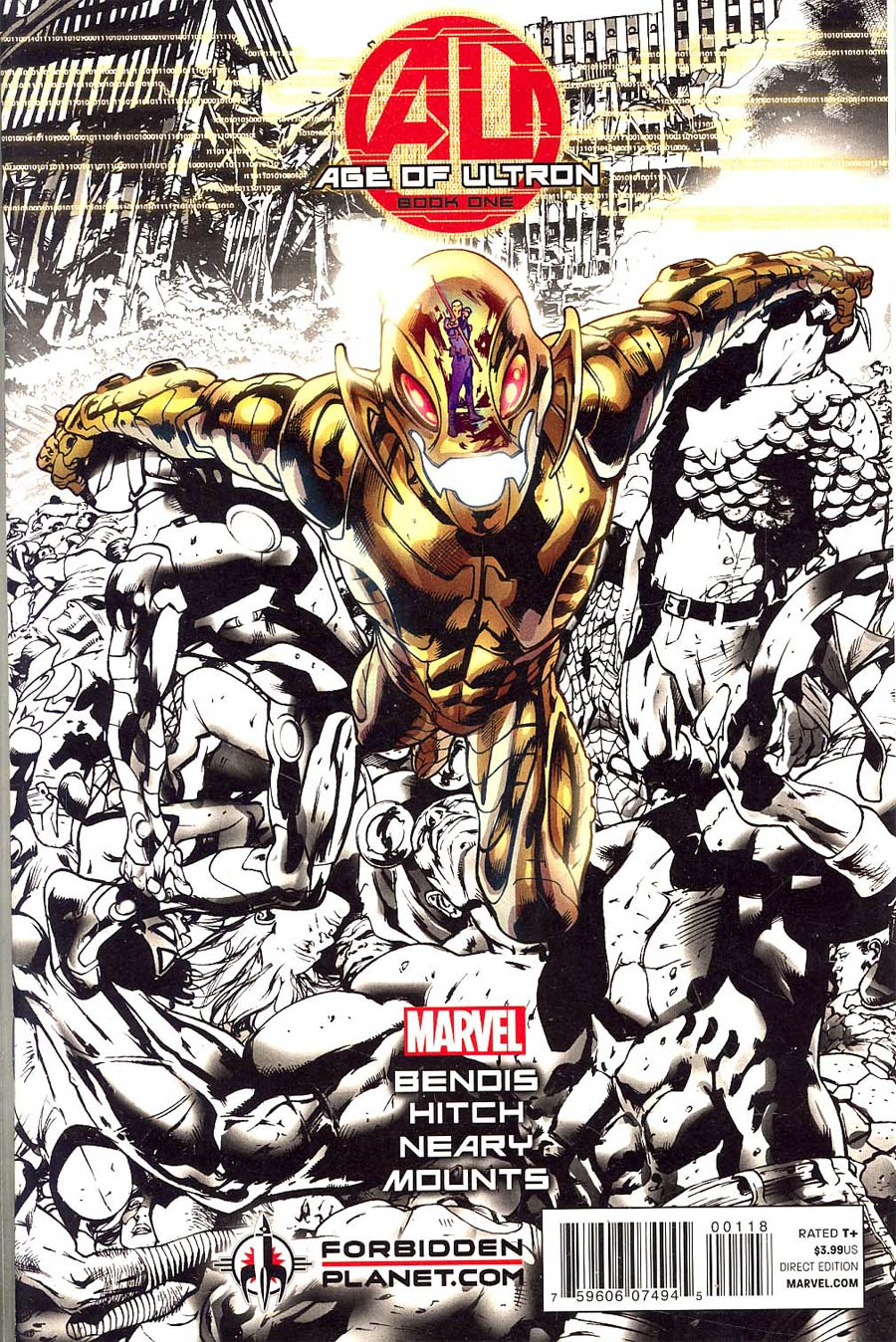 Age Of Ultron #1 Cover J Forbidden Planet Variant