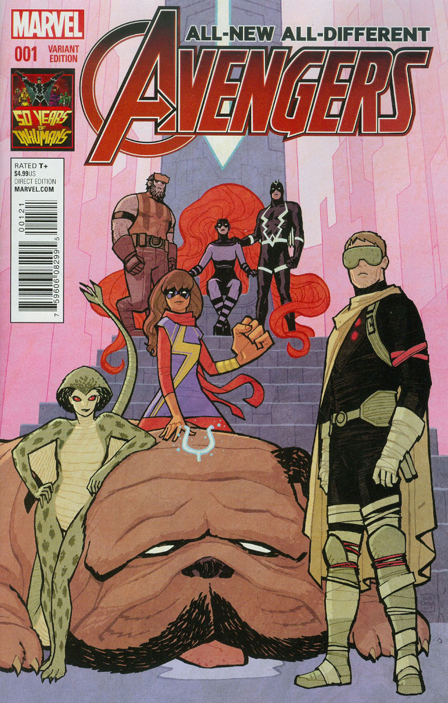 All-New All-Different Avengers #1 Cover F Incentive Cliff Chiang Inhumans 50th Anniversary Variant Cover